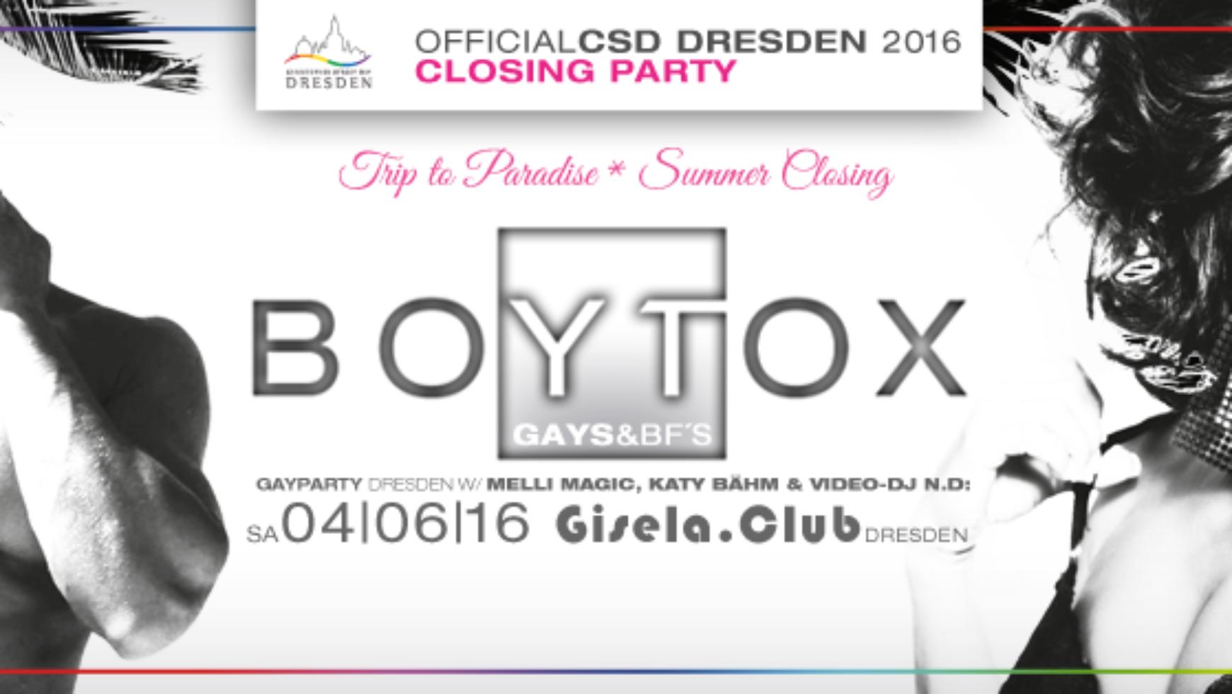 BOYTOX GAYPARTY – Die offizielle Abschlussparty