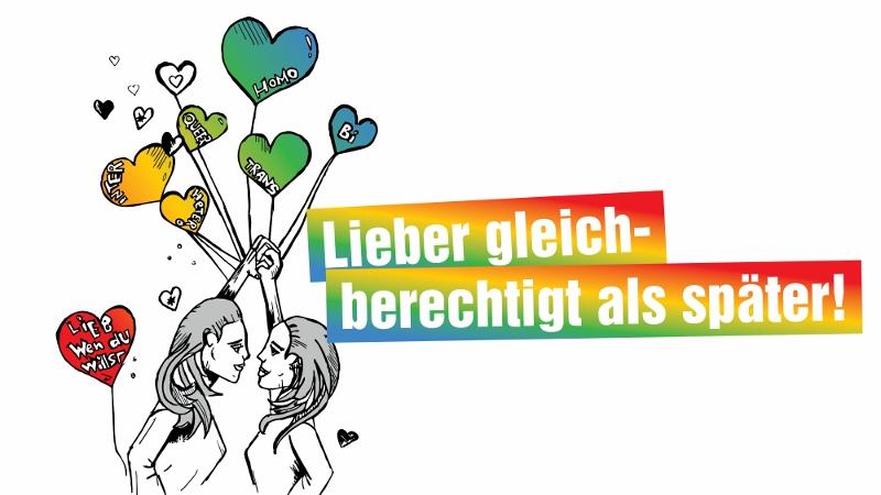 Lieber gleich berechtigt als später! Gleichstellungspolitischer Empfang zum CSD 2017