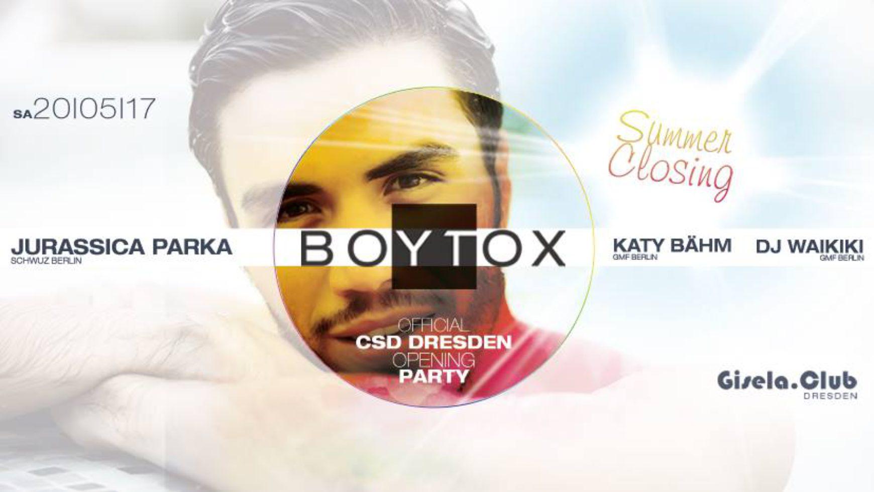 BOYTOX – Summer Closing – Die offizielle CSD Dresden Opening Party