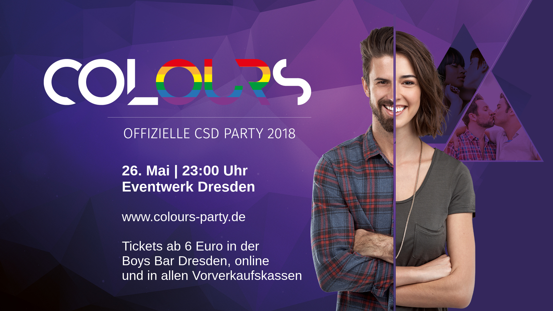 Colours – Offizielle CSD Party im Eventwerk