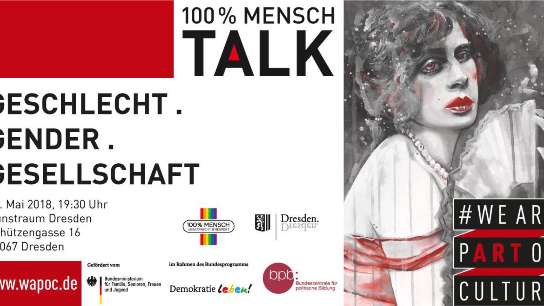 100% Mensch Talk: Geschlecht . Gender . Gesellschaft